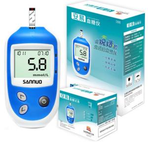 三诺(SANNUO)血糖仪家用 安易 血糖试纸 糖尿病 采血笔 血糖仪